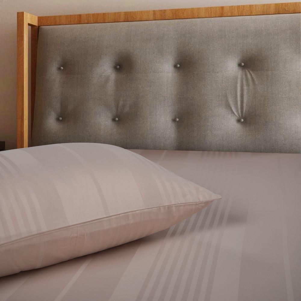 افضل شرشف فندقي قطن مفرد ونص 2 قطعه - بني فاتح - ميلين