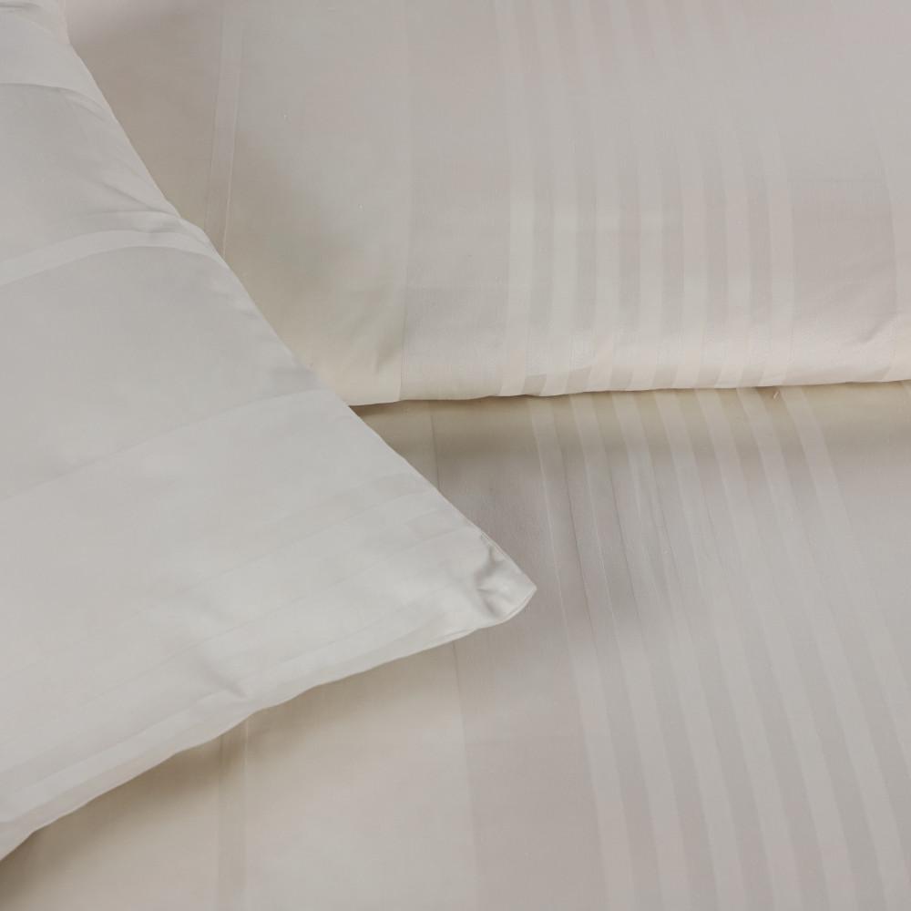 مفرش قطن  الغيمة الفندقي مفرد ونص 6 قطع- كريمي - مفارش ميلين