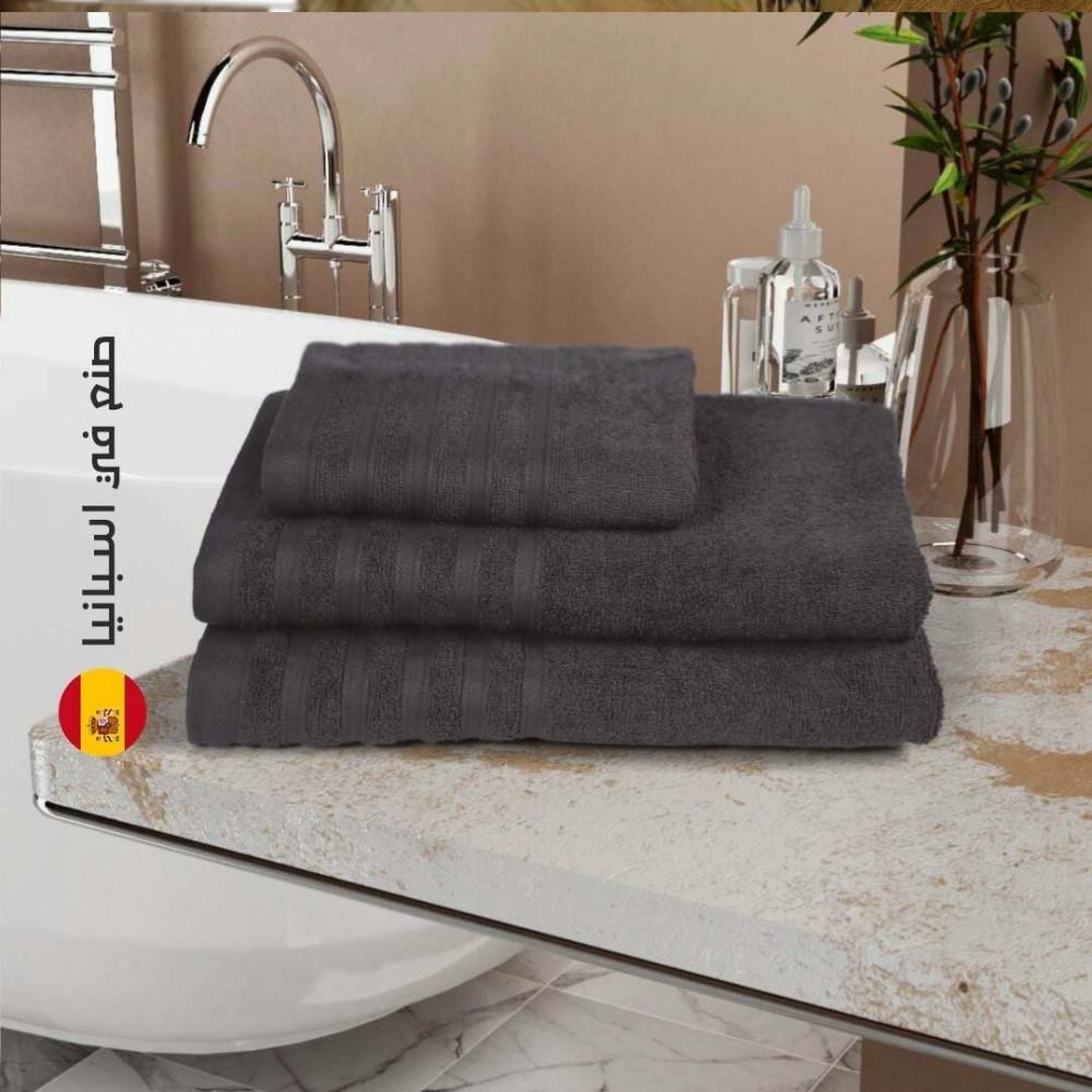 منشفة قطن اسبانية - الرمادي الغامق - متجر مفارش ميلين