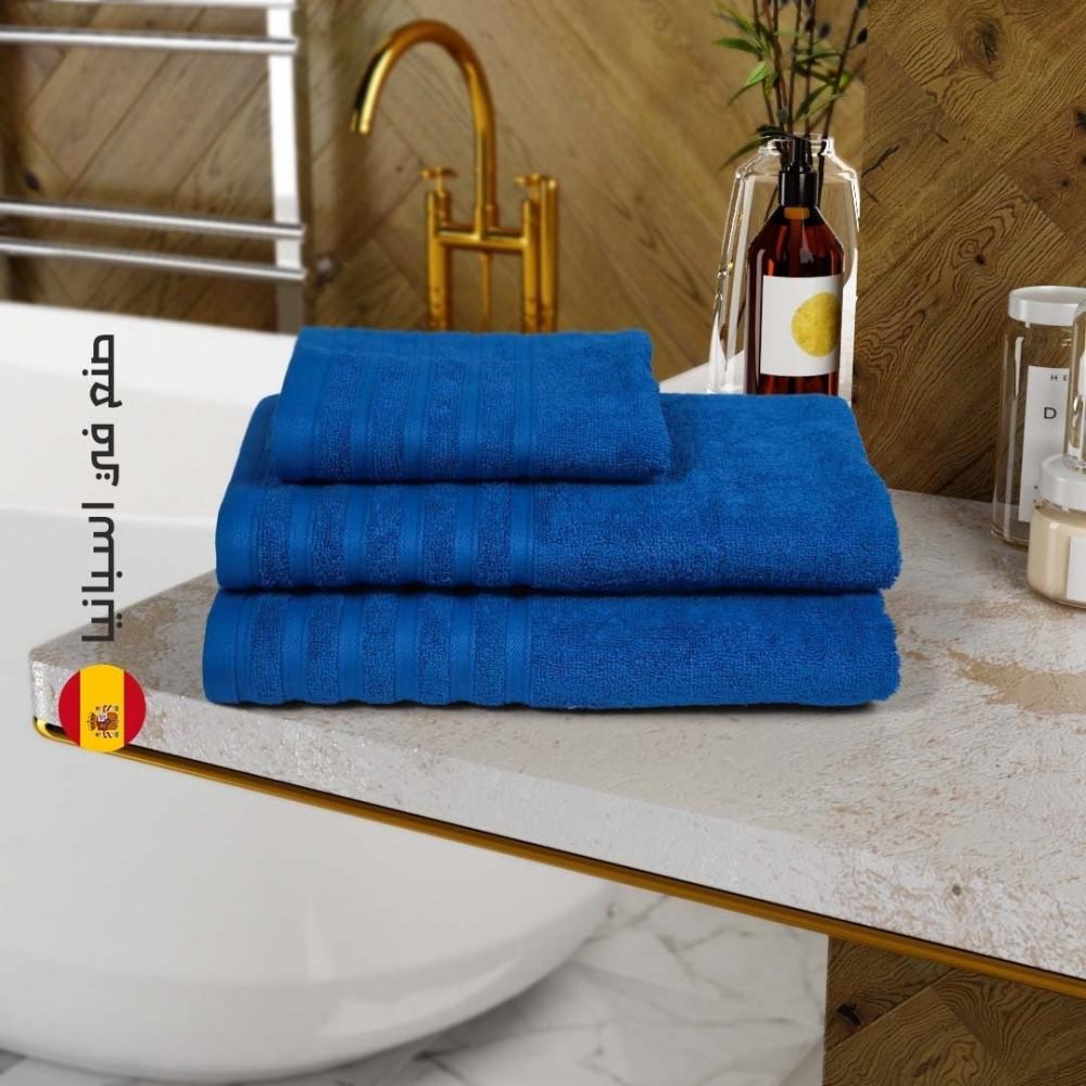 منشفة قطن اسبانية - ازرق - متجر مفارش ميلين