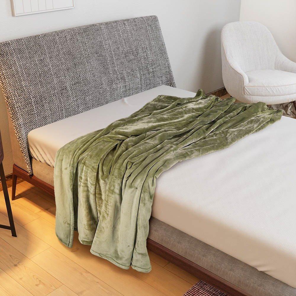 بطانية هالينا مخمل خفيفة مفرد - اخضر - ميلين
