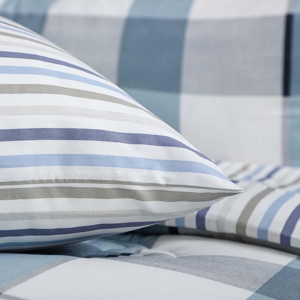 سعر مفرش قطن صيفي مفرد ونص 4 قطع -ارتل - ازرق وابيض - مفارش ميلين