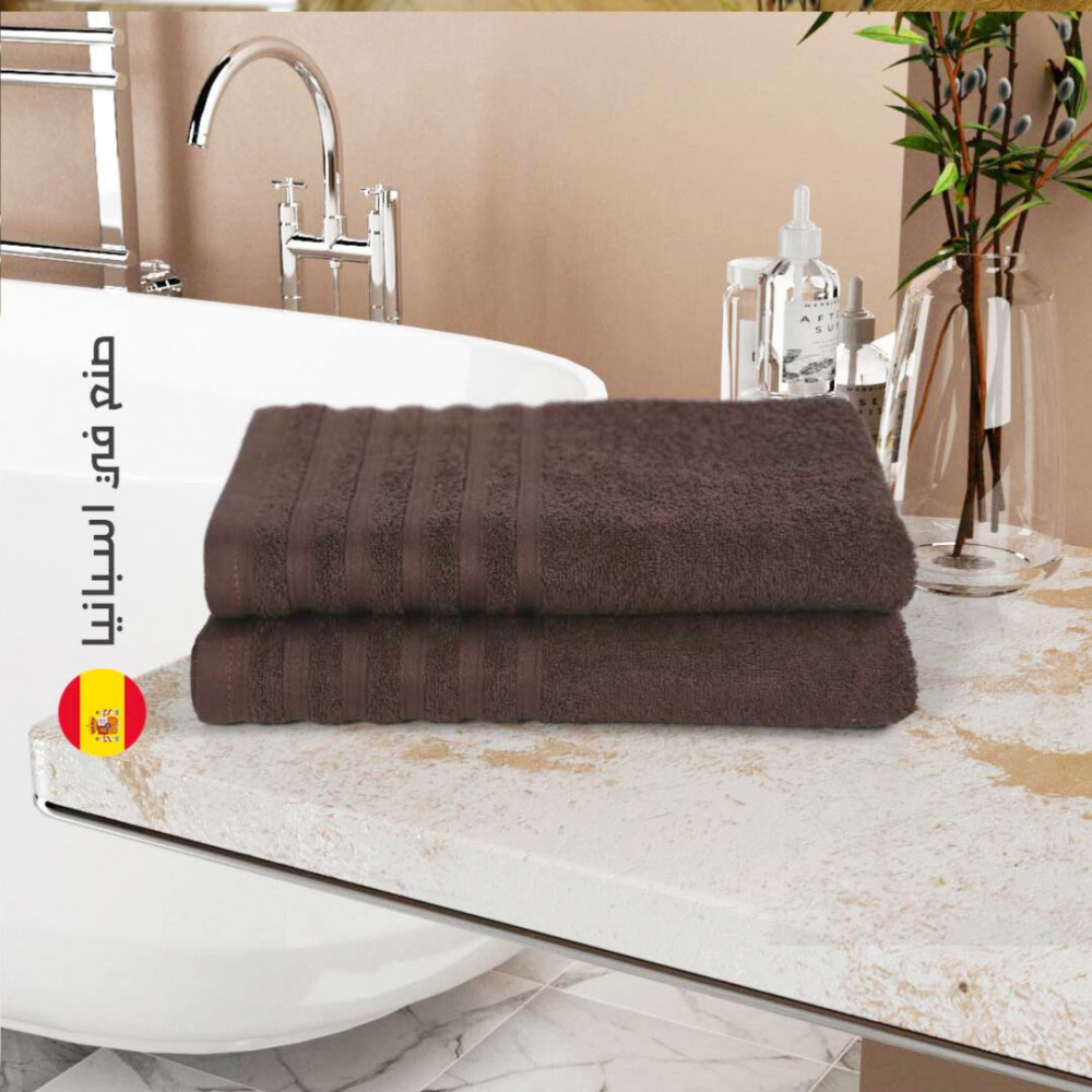 منشفة قطن اسبانية - البني - متجر مفارش ميلين