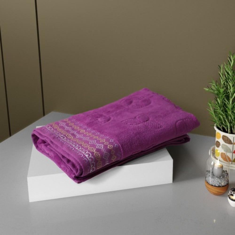 منشفة ريمولاس قطيفة وسط لون ارجواني - مفارش ميلين