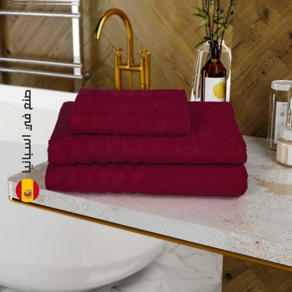منشفة قطن اسبانية - الاحمر - متجر مفارش ميلين