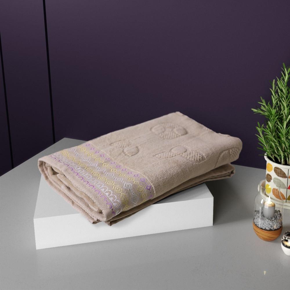 منشفة ريمولاس قطيفة وسط لون بيج - مفارش ميلين