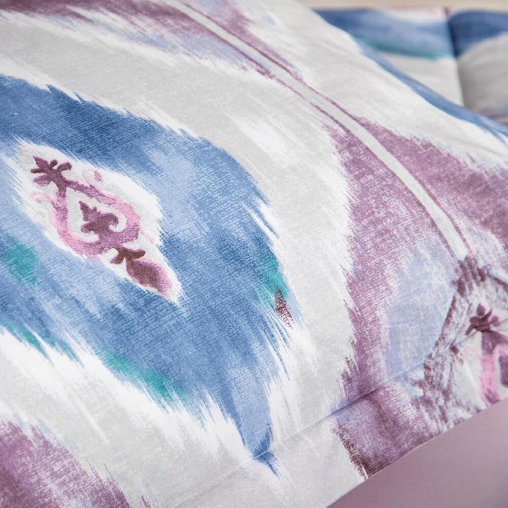 شراء مفرش صيفي مفرد 4 قطع -أليس - ازرق و ابيض وزهري - ميلين