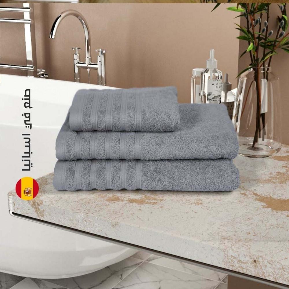 منشفة قطن اسبانية - الرمادي - متجر مفارش ميلين