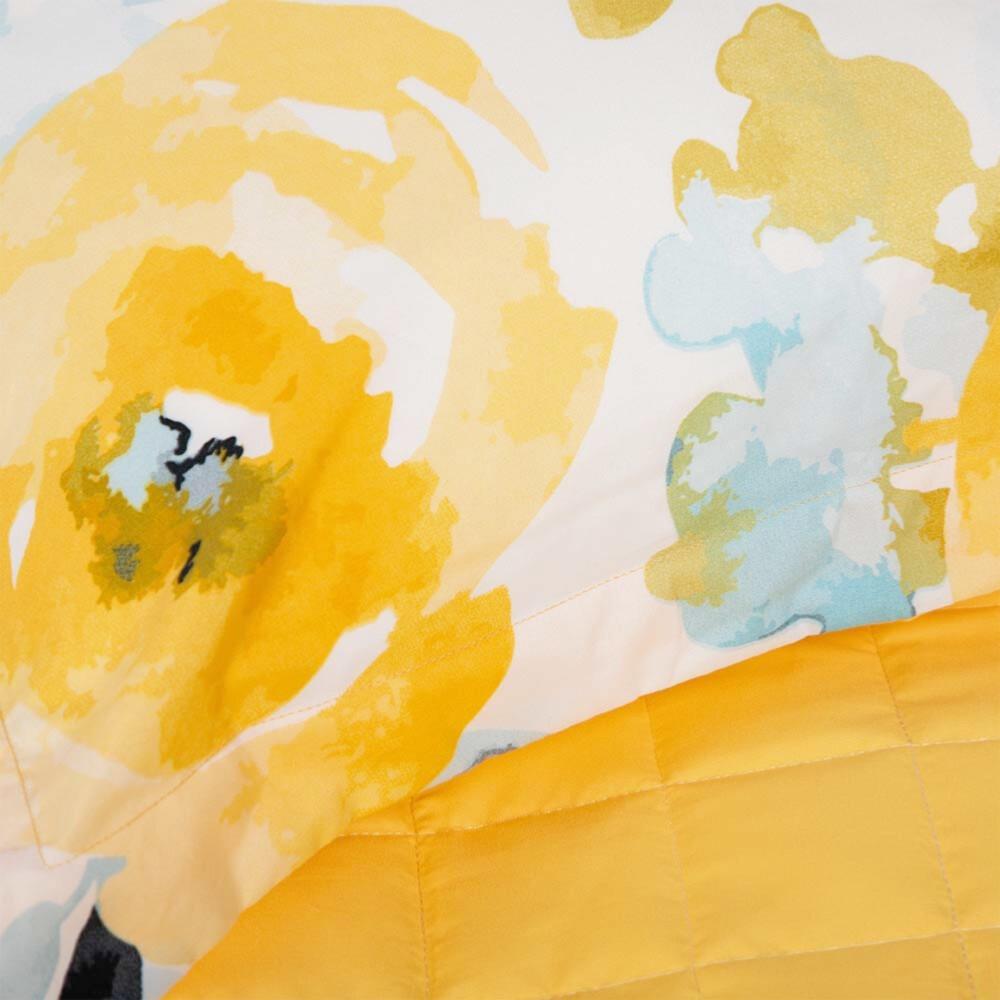 شراء مفرش صيفي مزدوج 8 قطع - جيسيكا - اصفر و ابيض و سماوي - مفارش ميلي