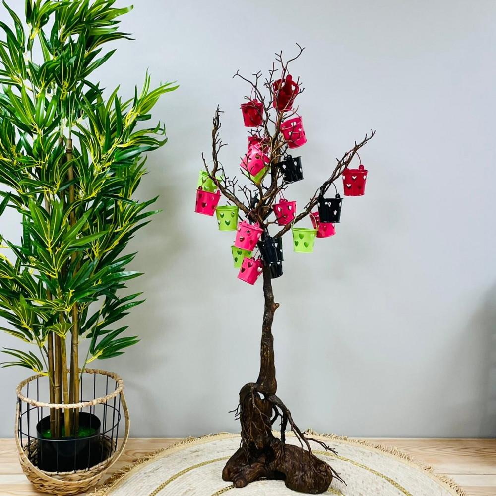 شجرة توزيعات بني بلون الشجر بجذع غريب توزيعات مناسبات مواليد وهدايا