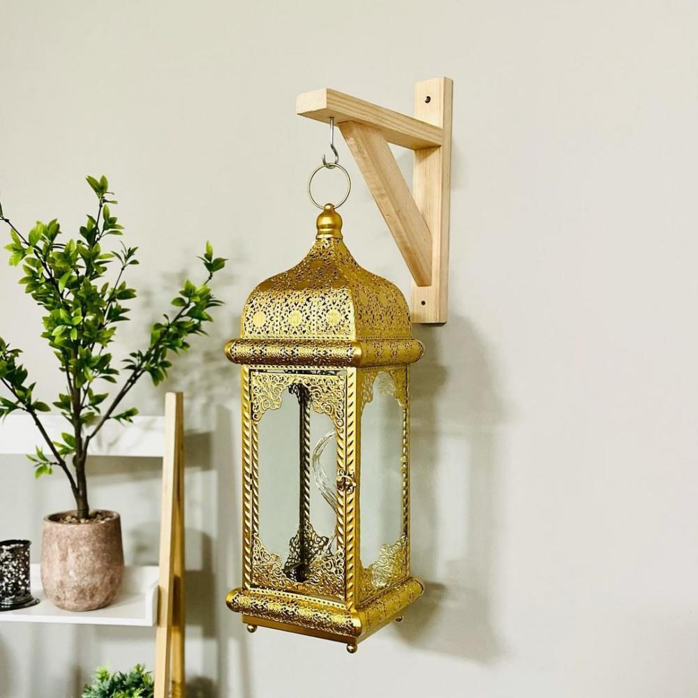 فانوس حديد انتيك تحف فوانيس ديكورات رمضان فانوس بالبطارية ديكور ذهبي