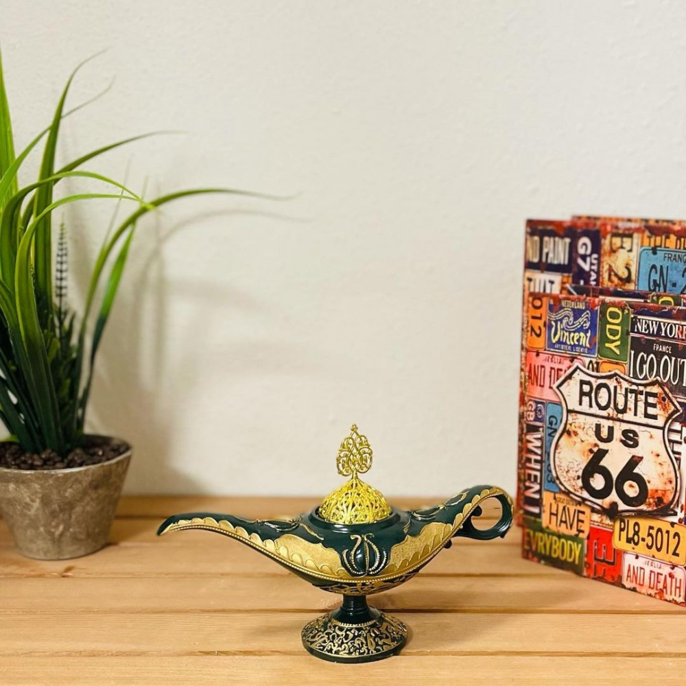 مبخرة مصباح علاء الدين مباخر ومداخن بخور ديكورات المنزل رمضان