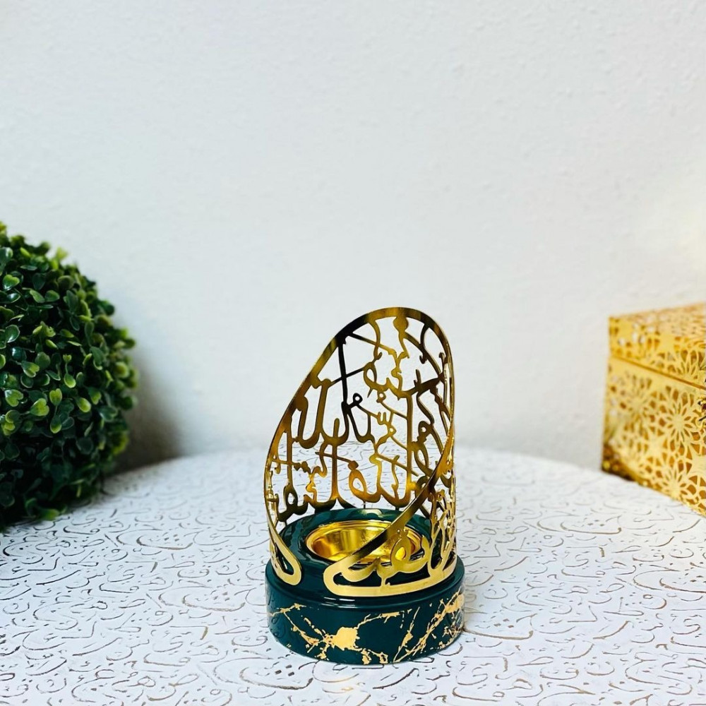 مبخرة ملكية حديد وسيراميك بنقشة رخامية مباخر ومداخن بخور ديكورات رمضان