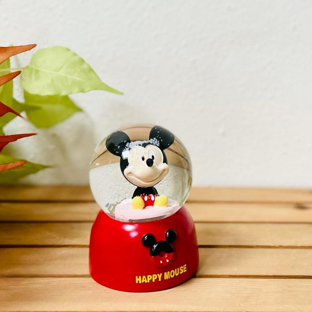 بلورة زجاج ديزني اضاءة ملونة احمر وموسيقى تحف وهدايا ديكورات المنزل