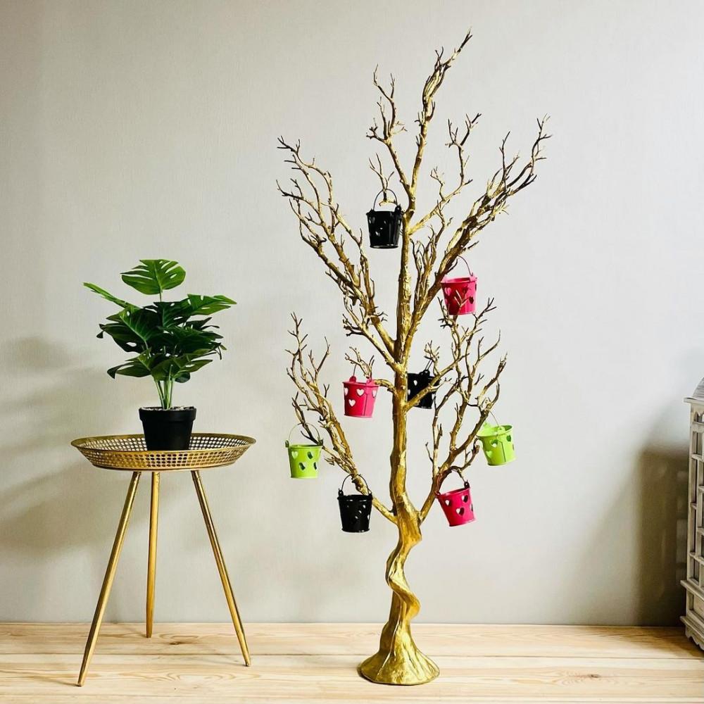 شجرة توزيعات ذهبية توزيعات مناسبات مواليد ديكورات المنزل شجر صناعي