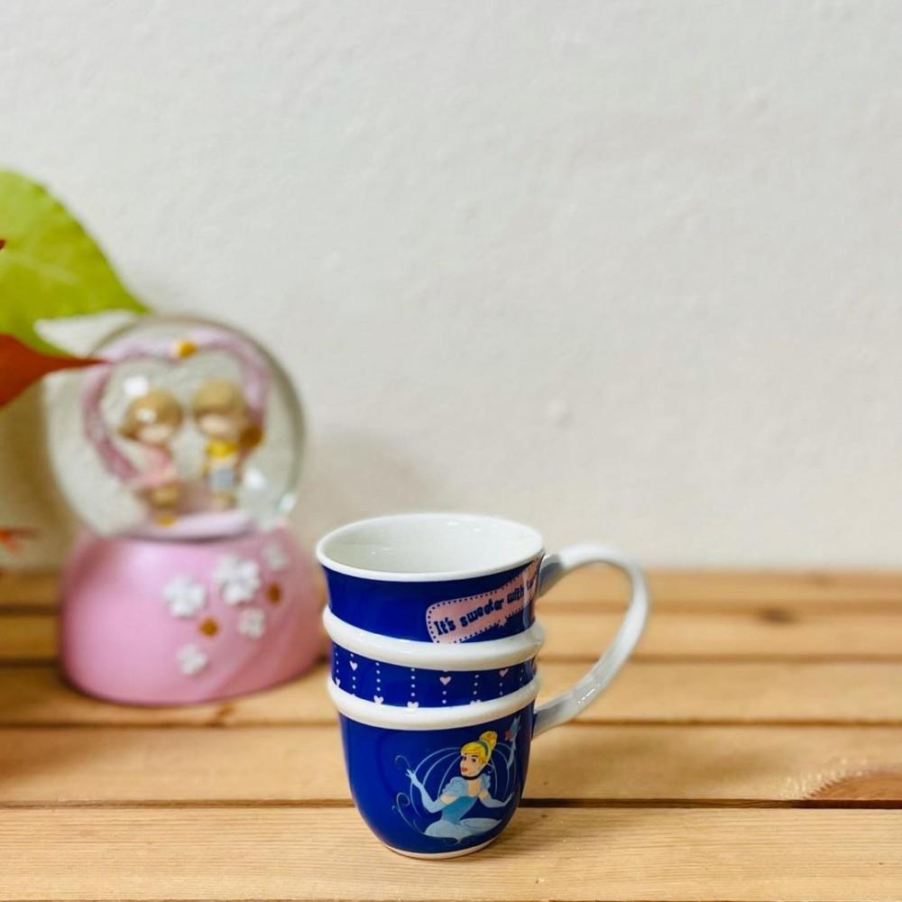 كوب ديزني ملون كحلي الأميرة مستلزمات مطبخ وتقديم قهوة ضيافه