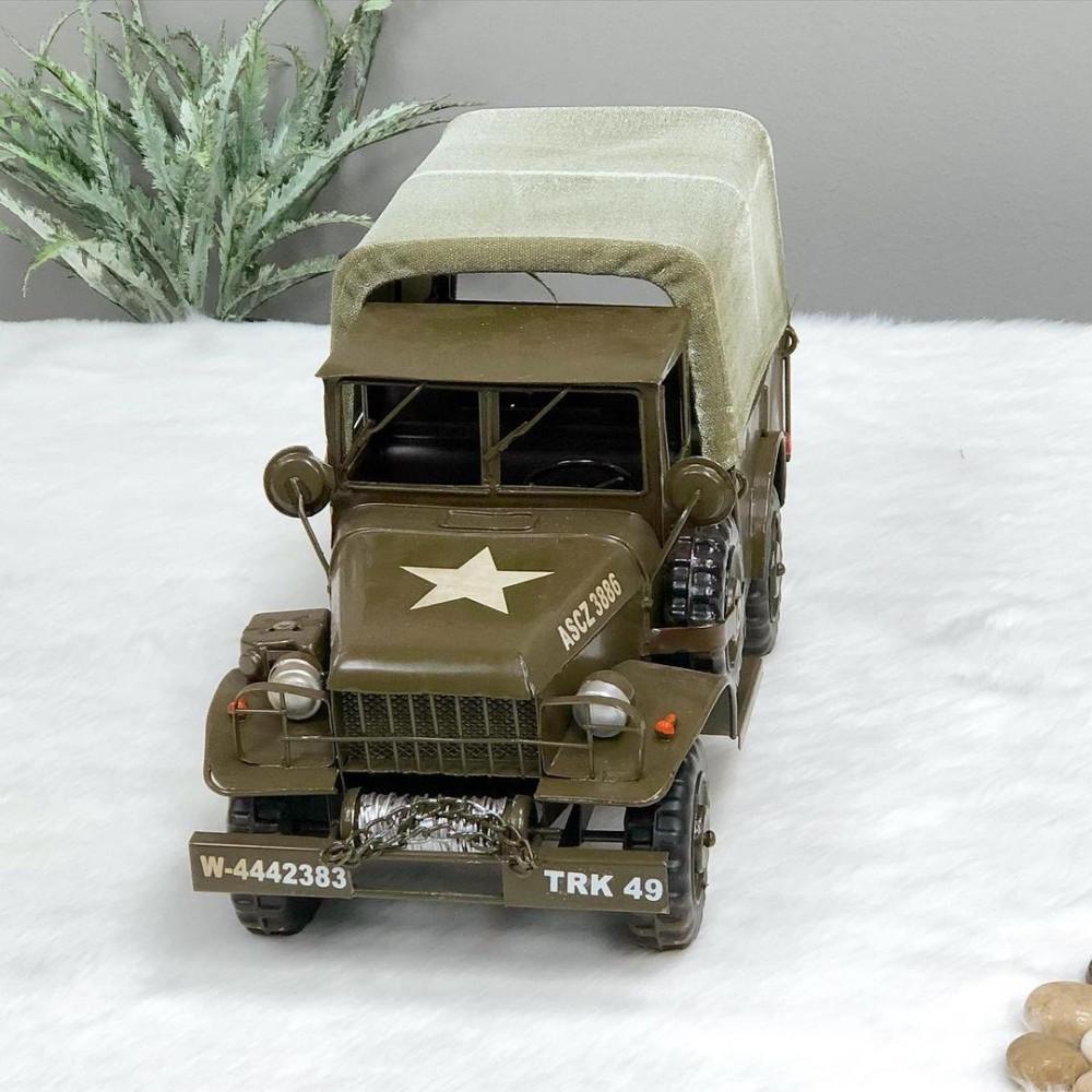 ديكور شاحنة عسكريه حديد تحف وهدايا ديكورات المنزل ديكور حديد زيتي