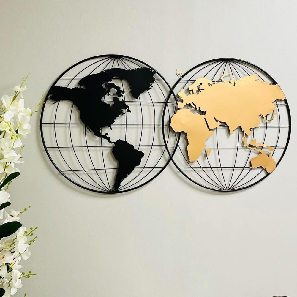 لوحة جدارية كرة ارضية تاريخ جغرافيا عالم تشكيلي
