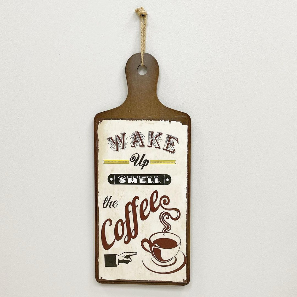 لوحة اطار خشب وحديد لوحات جدارية ديكورات المنزل حائط ديكور كوفي coffee
