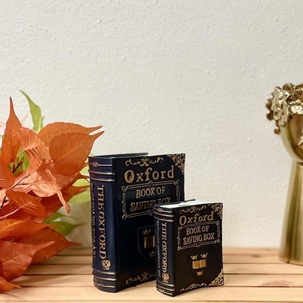 كتاب Oxford سيراميك كحلي وذهبي انتيك تحف وهدايا انتيكات ديكور المنزل