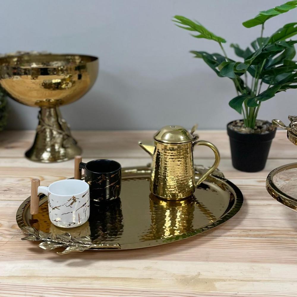 صينية وتبسي معدن ذهبي هندي شيك تحف وهدايا شيك صواني تقديم ضيوف
