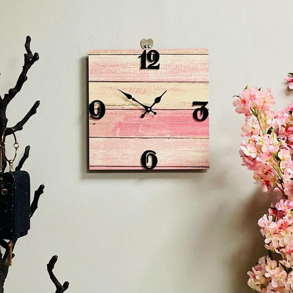 ساعة جدارية خشب ريفي زهري معتق ساعات ديكورات المنزل ديكور مكتبي حائط