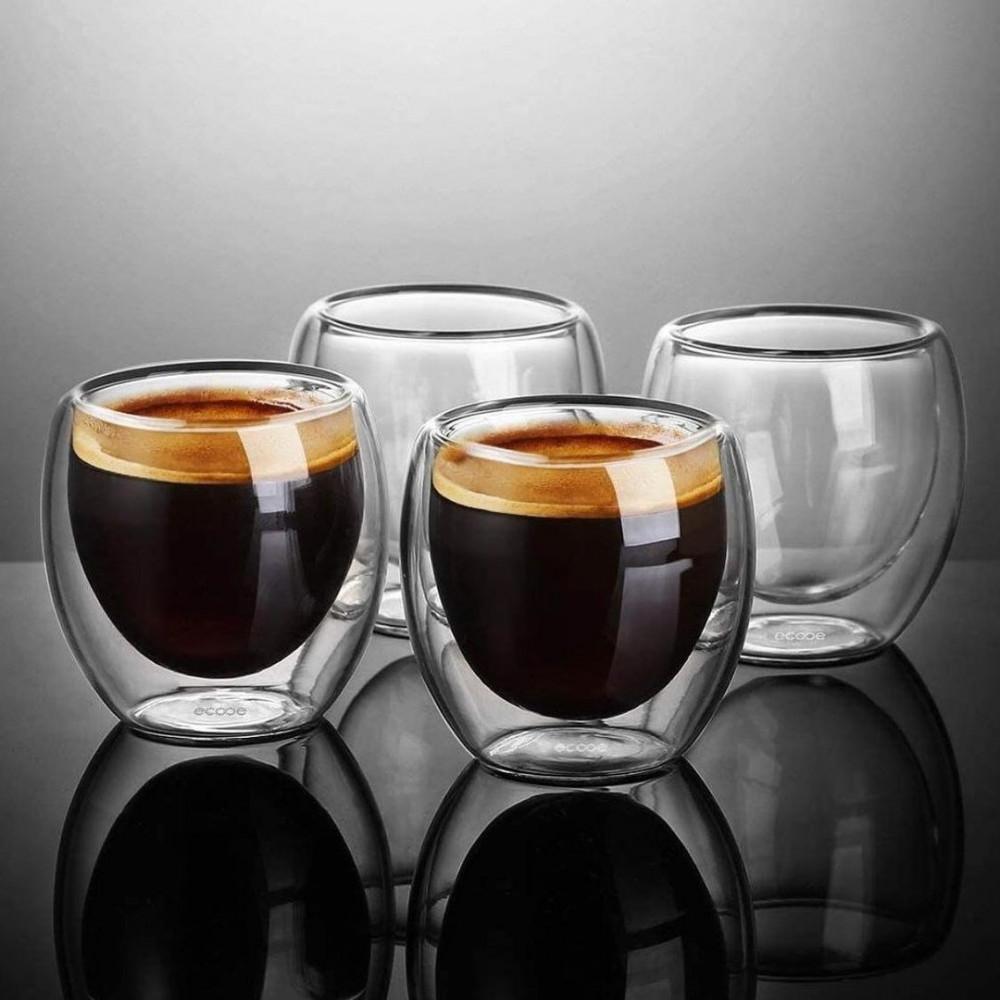 كوب زجاج دبل اسبريسو وقهوة 90 مل مستلزمات مطبخ وتقديم كوفي ضيافه