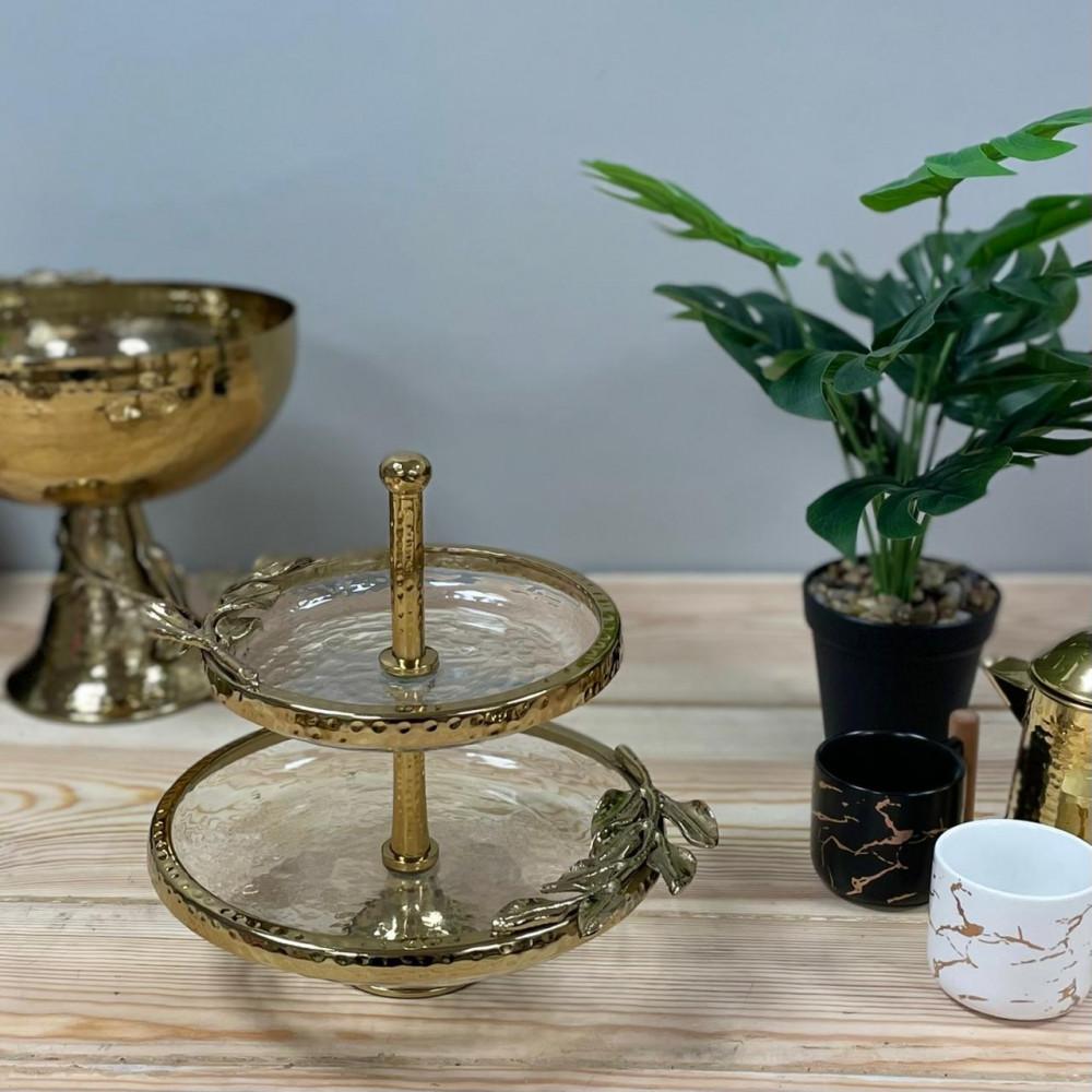 شيال حلا زجاج ومعدن هندي فاخر أدوات مطبخ وتقديم رمضان ضيافه وتقديم حلا