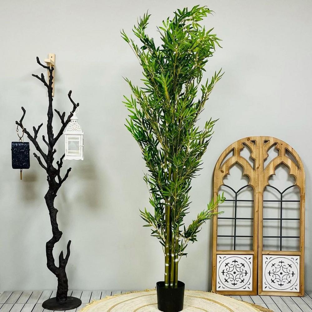 شجرة مامبو صناعي اخضر واصفر كبيرة نباتات زينه ومراكن ديكورات المنزل