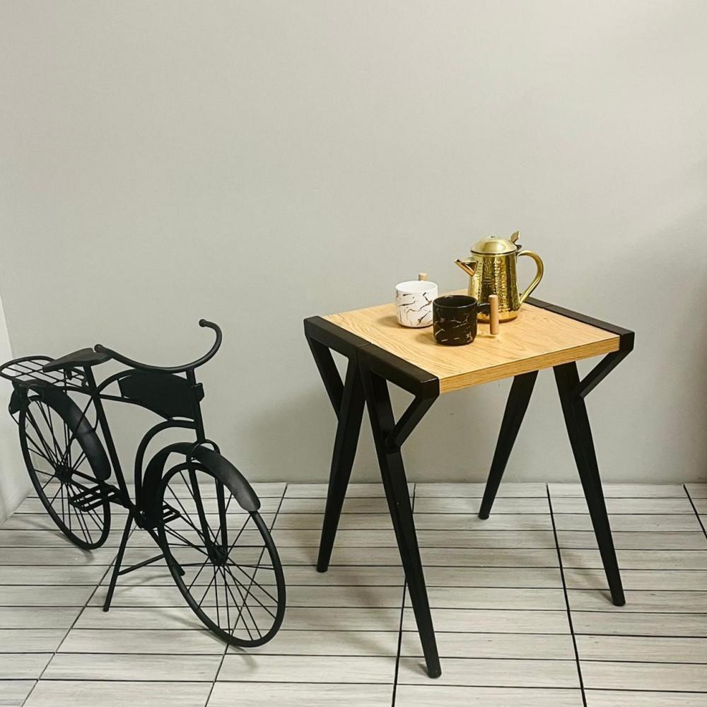 طاولة خدمة وقهوة حديد وخشب كراسي وطاولات ديكورات المنزل