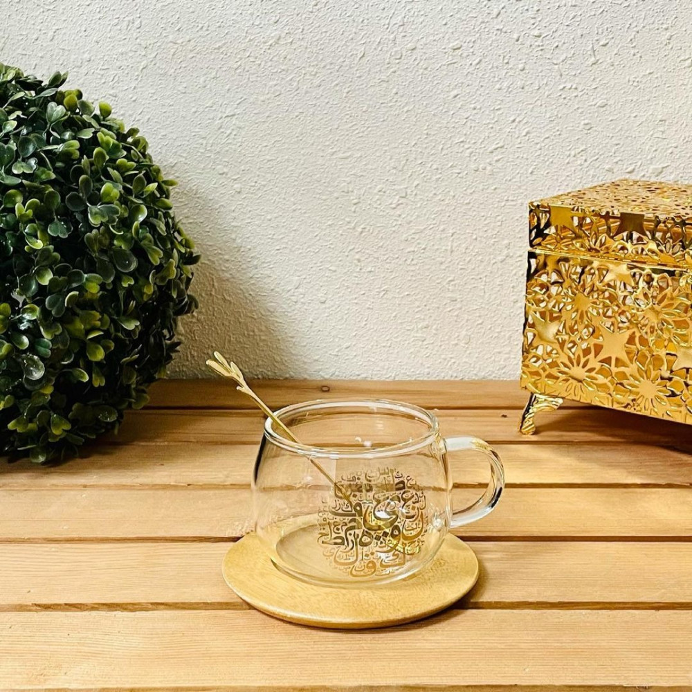 فنجان زجاج شفاف ضيافه وتقديم فنجان موكا فنجان كابتشينو فنجان نسكافيه