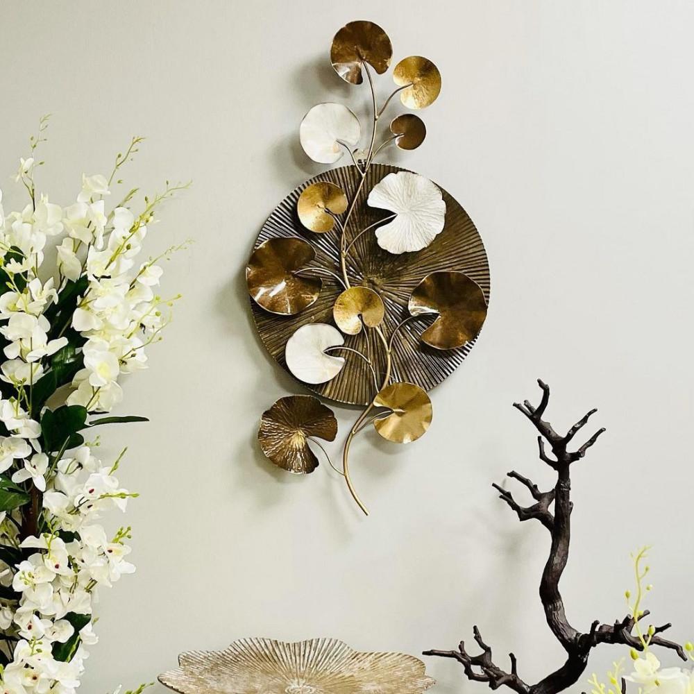 لوحة جدارية حديد برونز وابيض غصن شجرة لوحات جدارية ديكورات المنزل حائط