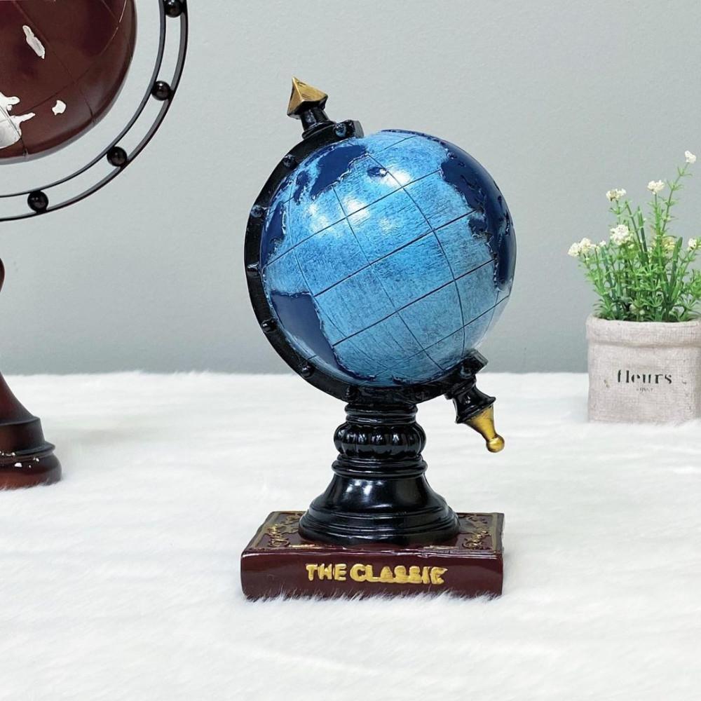 ديكور حصالة كرة أرضية سيراميك ازرق تحف وهدايا ديكورات المنزل