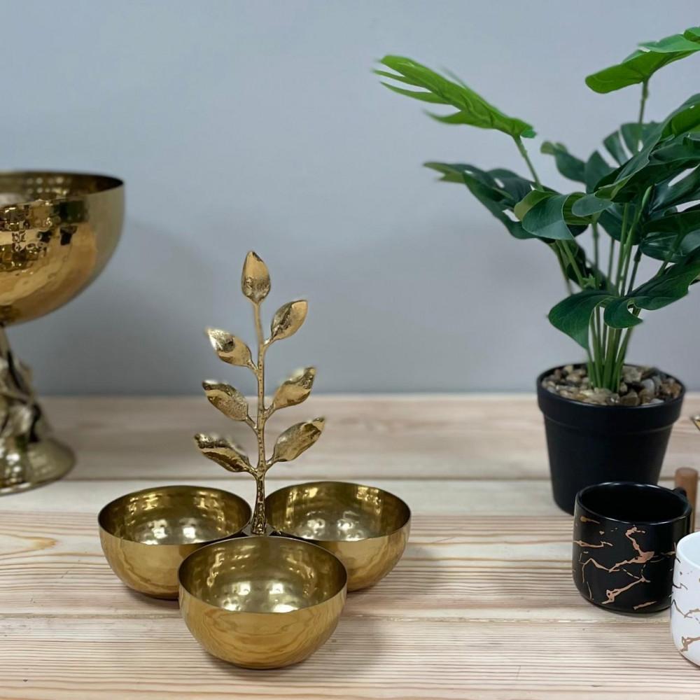 تمرية ذهبية معدن ذهبي تحف وهدايا ديكورات المنزل رمضان ضيافه وتقديم