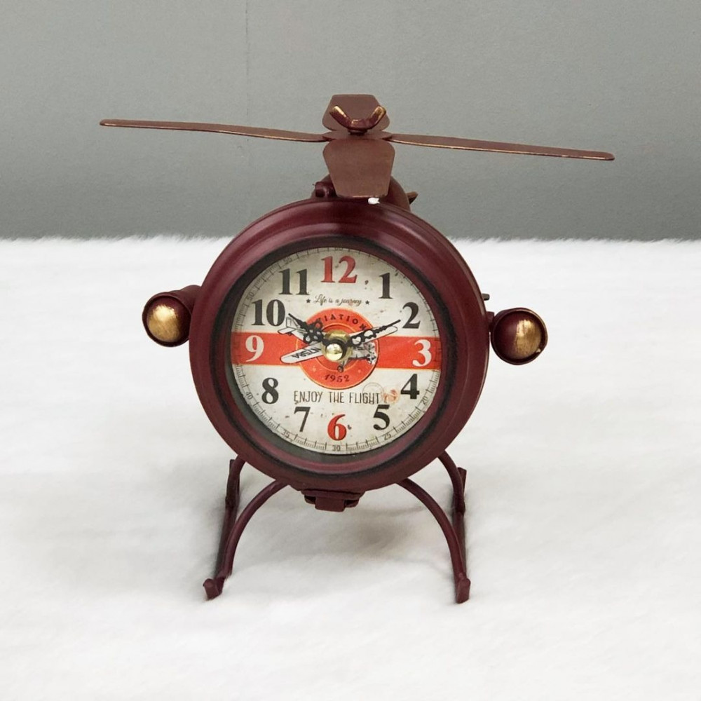 ساعة مكتب حديد انتيك طائرة عودي ساعات ديكورات المنزل ديكور مكتبي