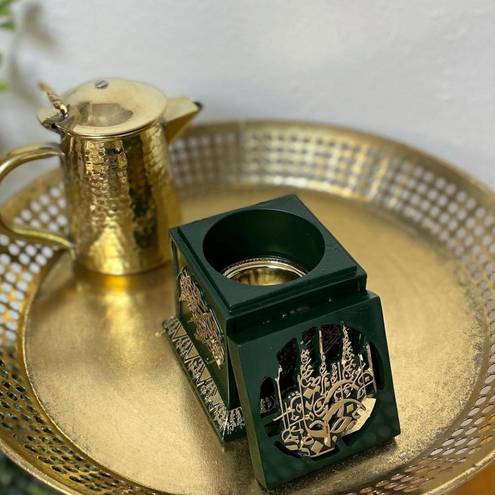 مبخرة سيراميك انتيك مزخرفة بالذهبي مباخر ومداخن بخور ديكورات رمضان