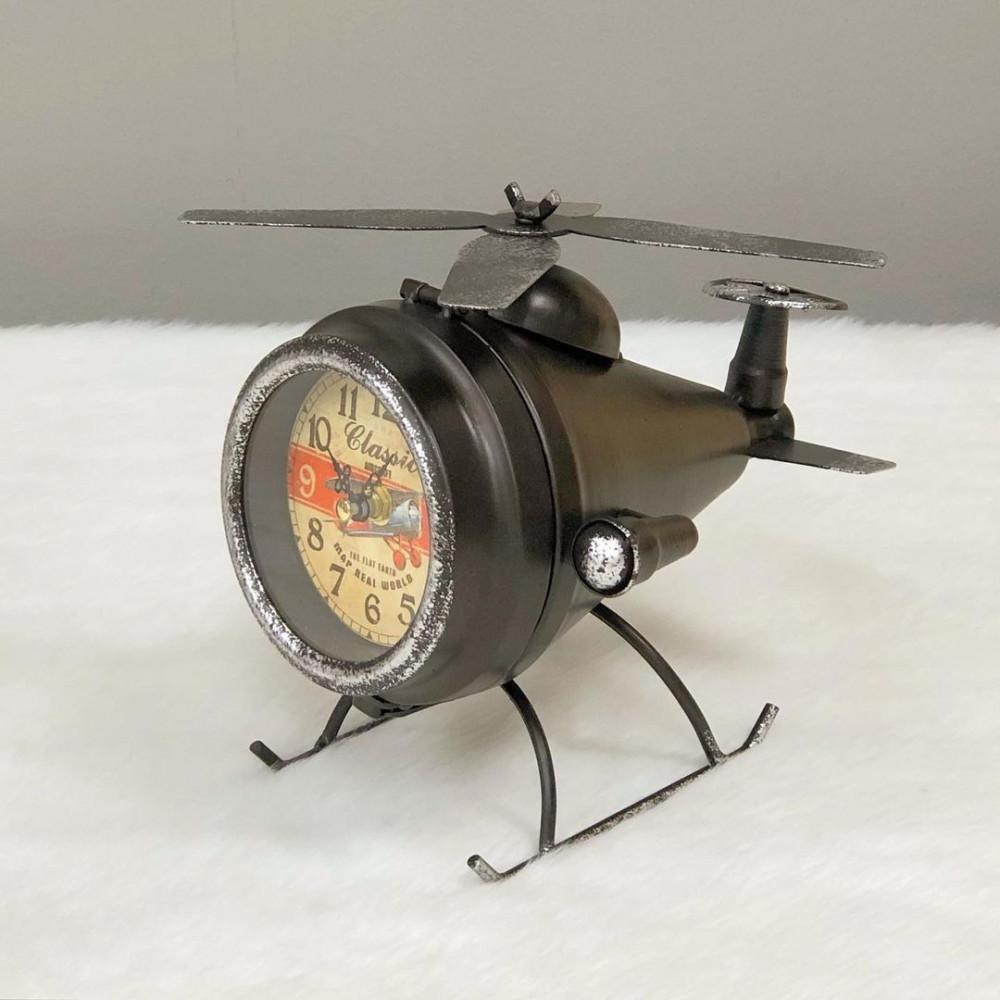 ساعة مكتب حديد انتيك طائرة برونزي ساعات ديكورات المنزل ديكور مكتبي
