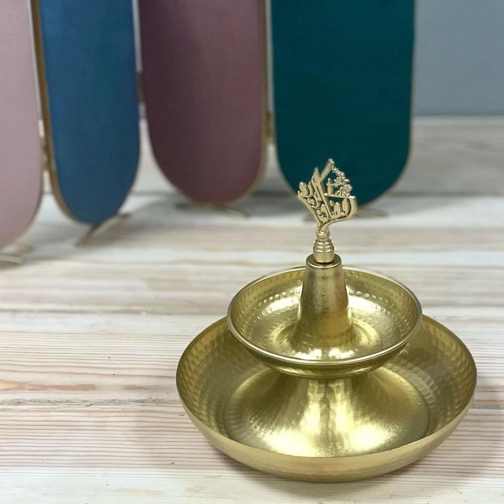 تمرية ذهبية معدن تحف وهدايا ديكورات المنزل رمضان ضيافه وتقديم