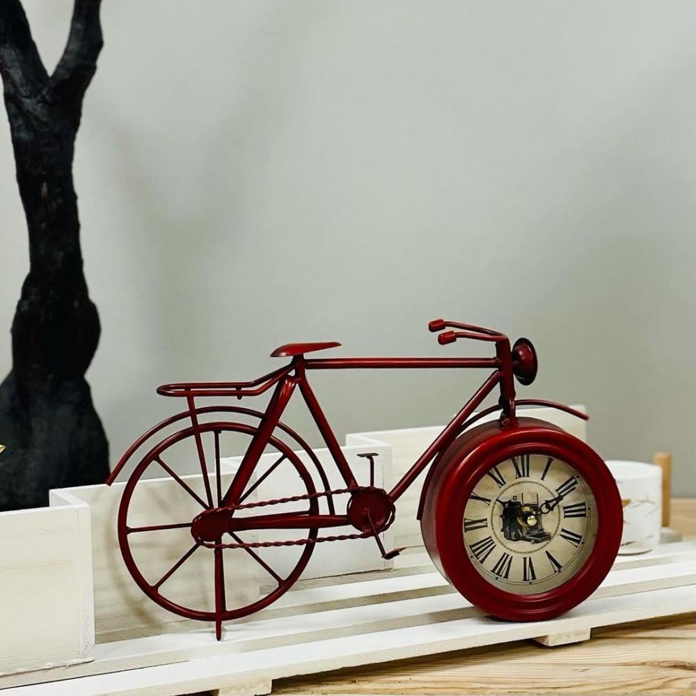 ساعة حديد عودي شكل دراجة ساعات تحف وهدايا ديكورات المنزل ديكور مكتبي