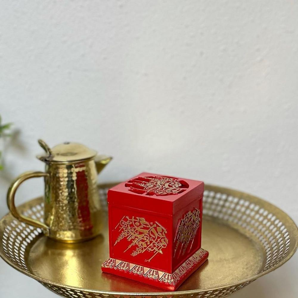 مبخرة سيراميك مزخرفة بالذهبي مباخر ومداخن بخور ديكورات رمضان