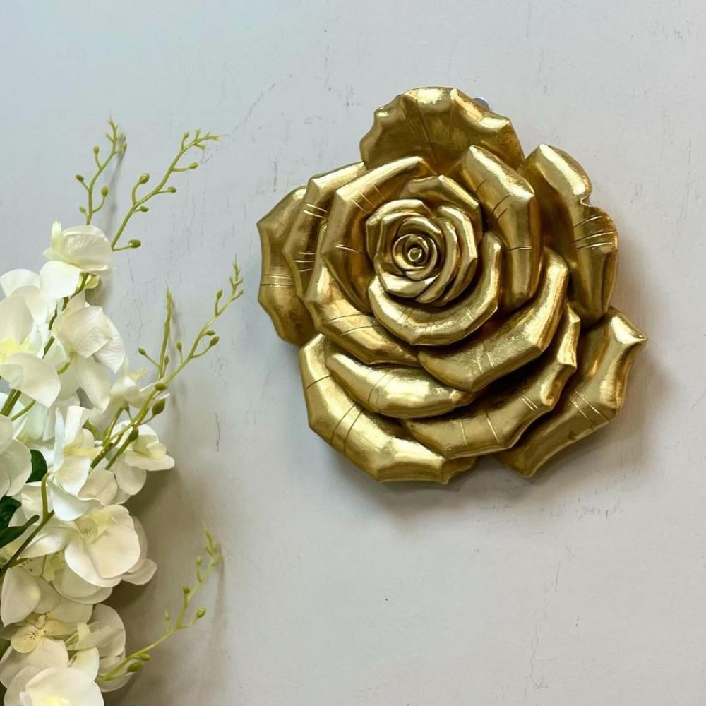 وردة سيراميك ذهبية ورقات لوحات جدارية ديكورات المنزل حائط ديكور مكتبي