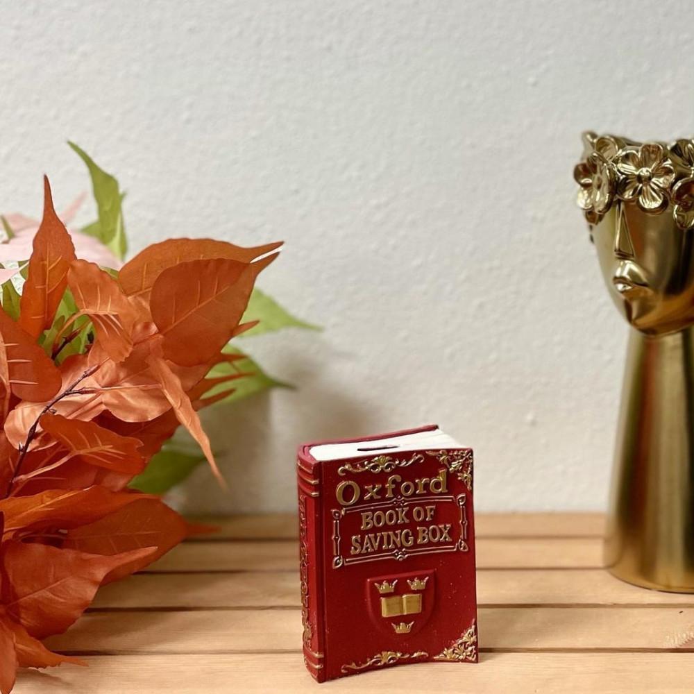 كتاب Oxford سيراميك احمر وذهبي انتيك تحف وهدايا انتيكات ديكور المنزل