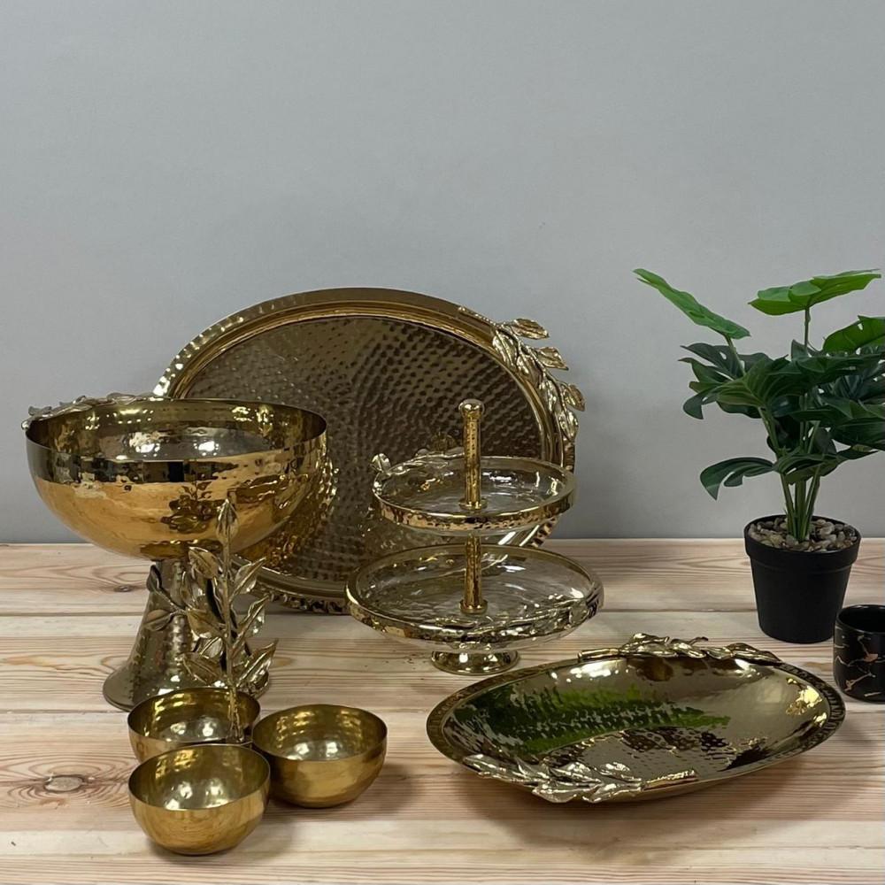 تبسي معدن ذهبي تحف وهدايا تبسي غصن شجر للضيوف والتقديم ديكورات مطبخ