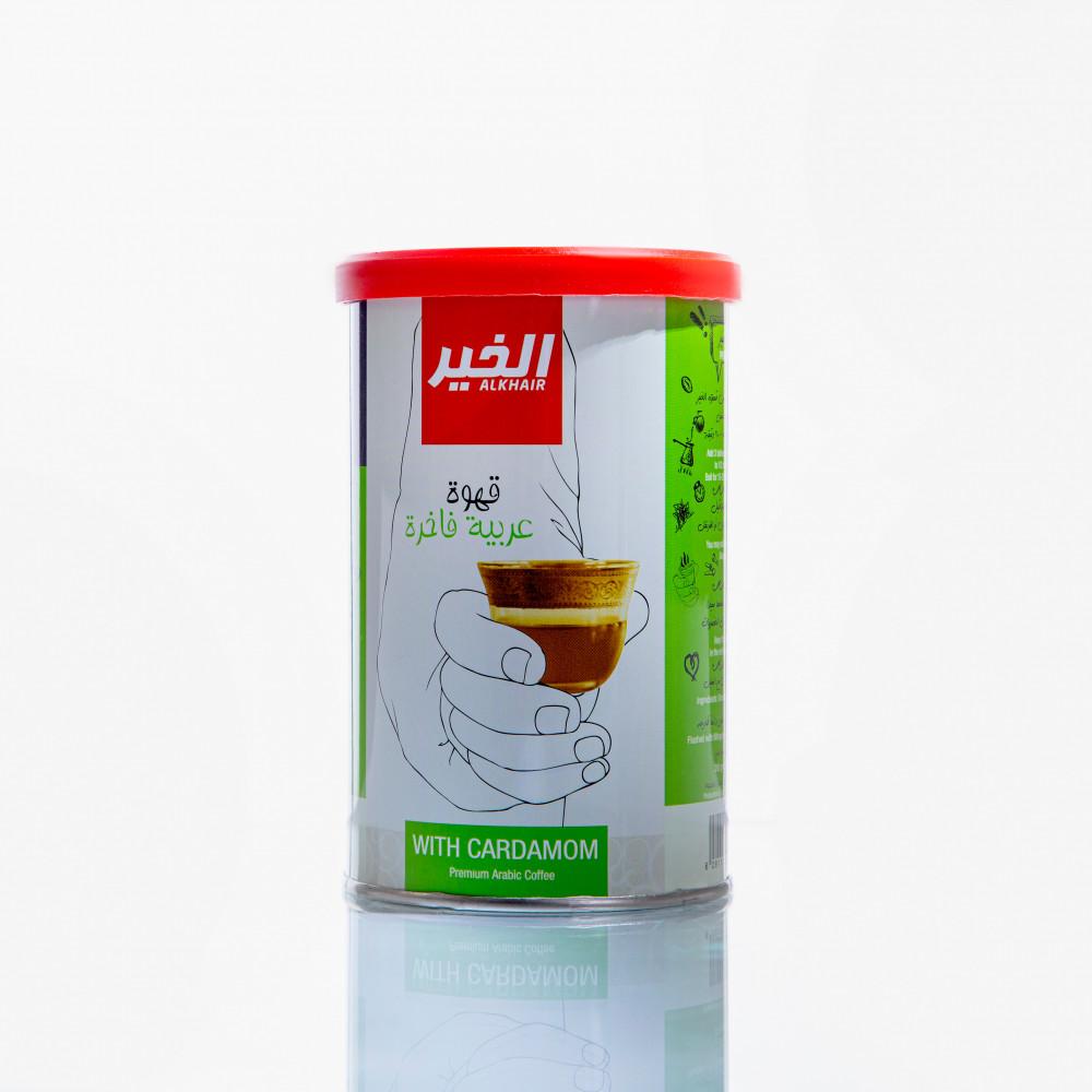 كرتون قهوة الخير عربي بعبق الهيل 250 جم - 20 علبة