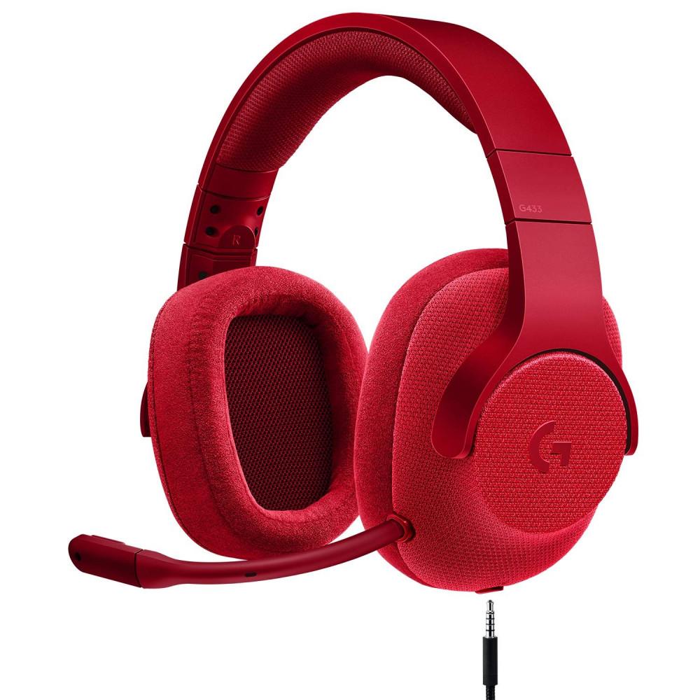 Logitech G433 7 1 FIRE RED