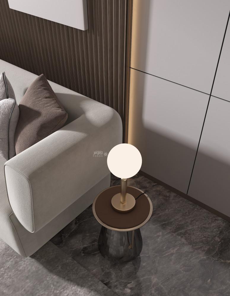 اضاءة طاولة كرة مضيئة ذراع ذهبي - فانوس