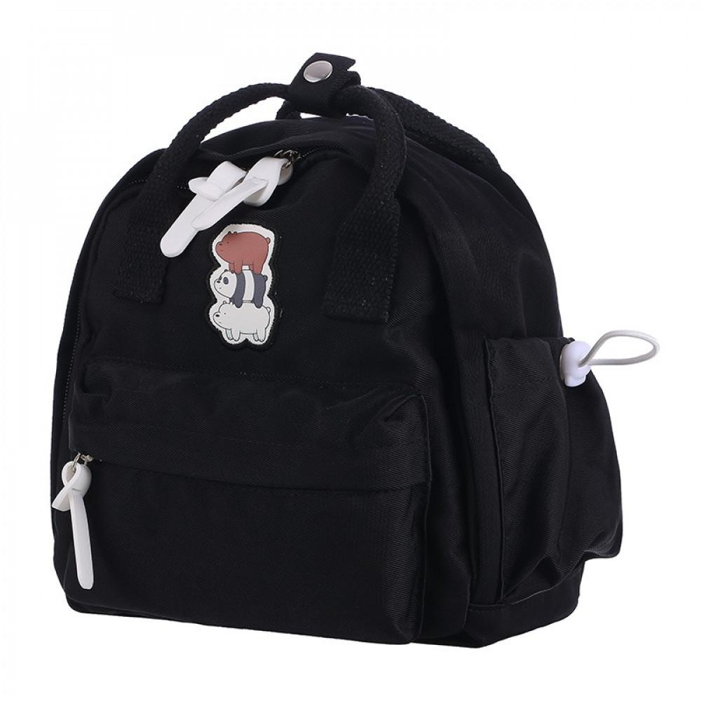 حقيبة ظهر من الدببة الثلاثة اسود ميني سو Miniso حب الحياة حب ميني سو تسوق واحصل علي افضل الاسعار