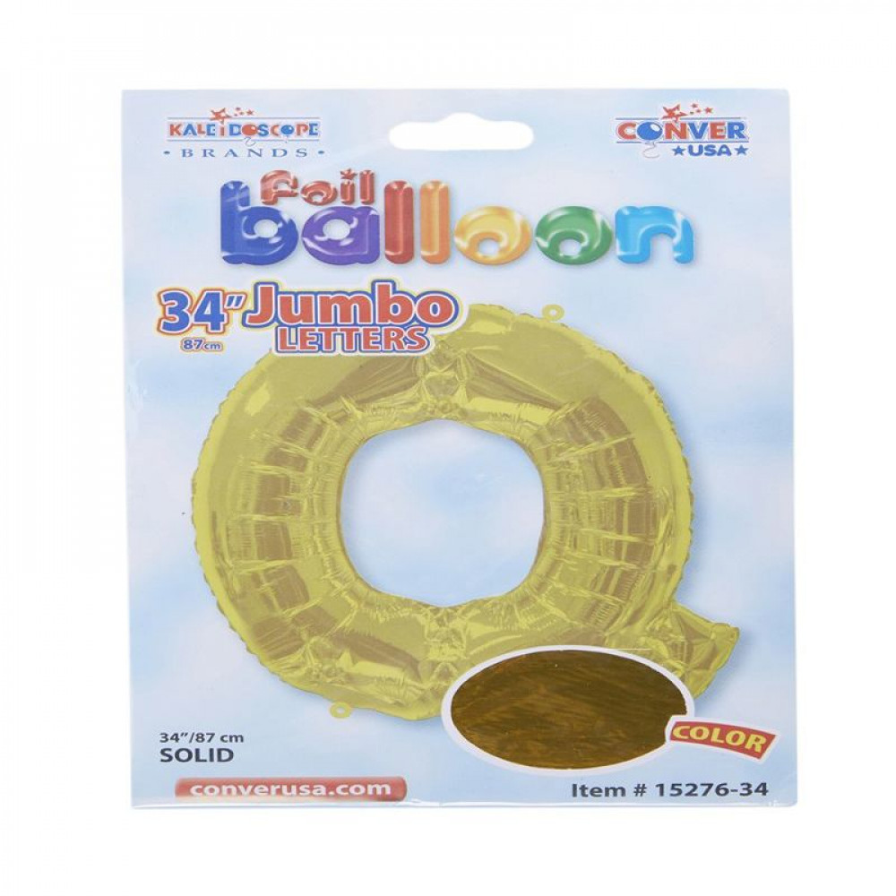 بالون ذهبي, Golden Balloon, بلونات أحرف, بالون حرف Q