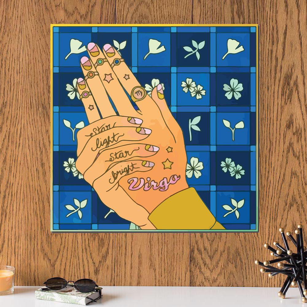 لوحة برج العذراء خشب ام دي اف مقاس 30x30 سنتيمتر