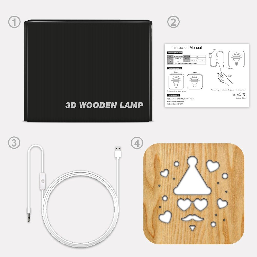 مواسم تحفة خشبية ثلاثية الأبعاد كيفية تركيب القطعة و توصيل الإضاءة